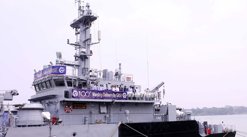 GRSE Hands Over One Hundredth War Ship to Indian Navy