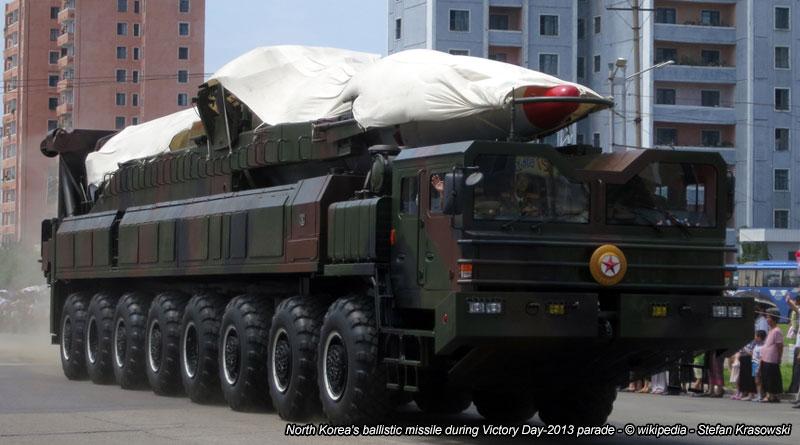 North Korea's ballistic missile during Victory Day-2013 parade - © wikipedia - Stefan Krasowski