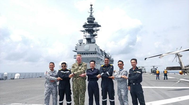 IN Ships Undertake Group Sail with Naval Ships of Japan, Philippines and US