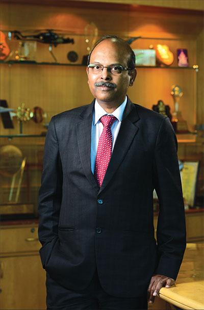 Chairman and managing director, Bharat Electronics Ltd, M.V. Gowtama