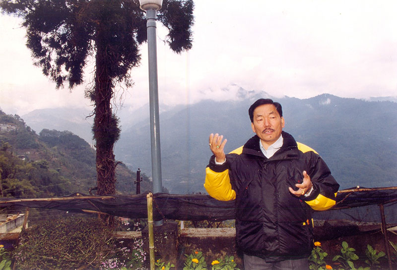Chief minister Pawan Kumar Chamling is an icon in Sikkim