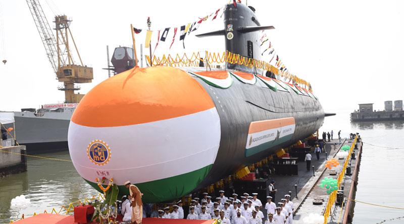 Fourth Scorpene Class Submarine 'Vela' launched