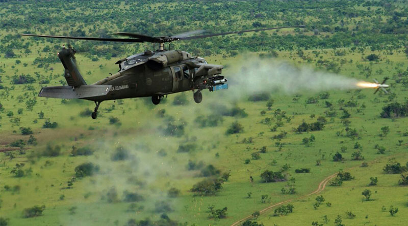 Sikorsky Blackhawk SPIKE FIRING