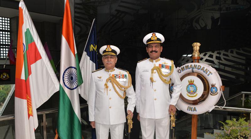 VAdm. Dinesh K Tripathi Assumes Charge as INA Commandant