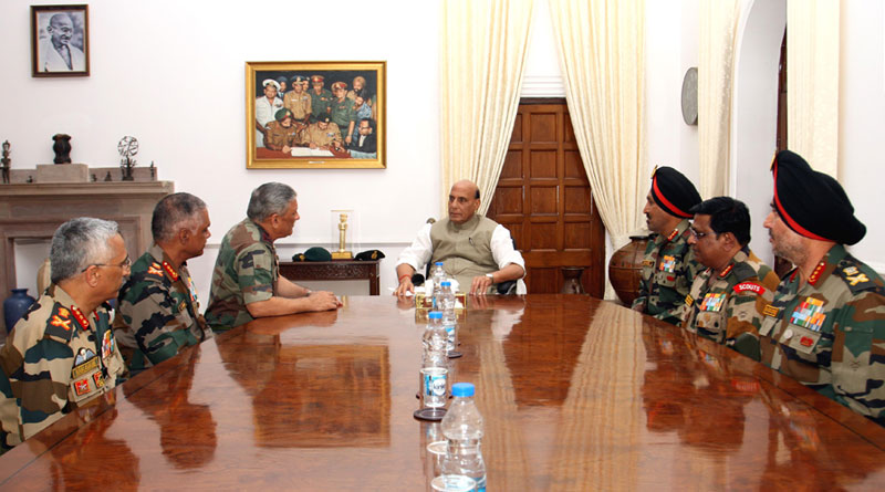 Defence Minister meets COAS, VCOAS and Army Commanders