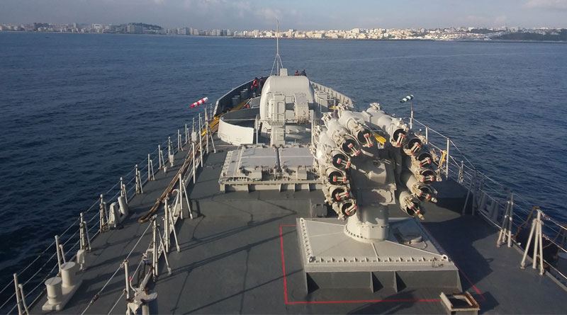 INS Tarkash Arrives at Tangier, Morocco