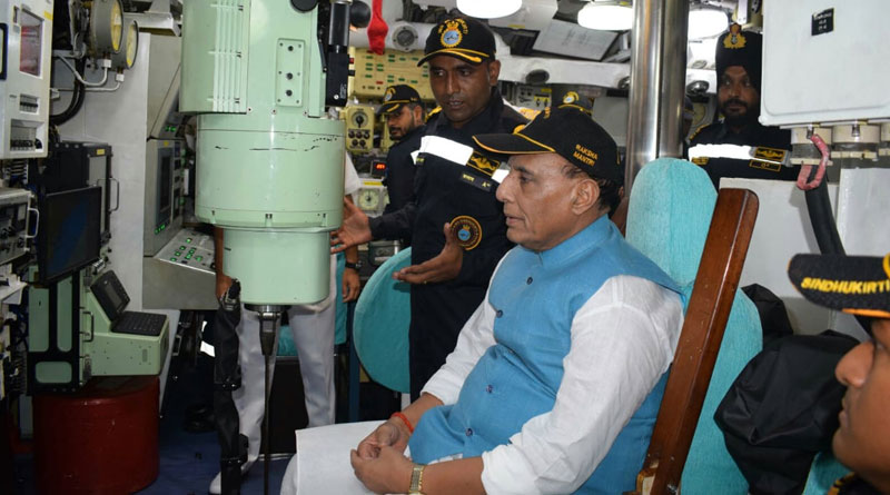 Defence Minister Visits INS Shivalik and INS Sindhukirti at Visakhapatnam
