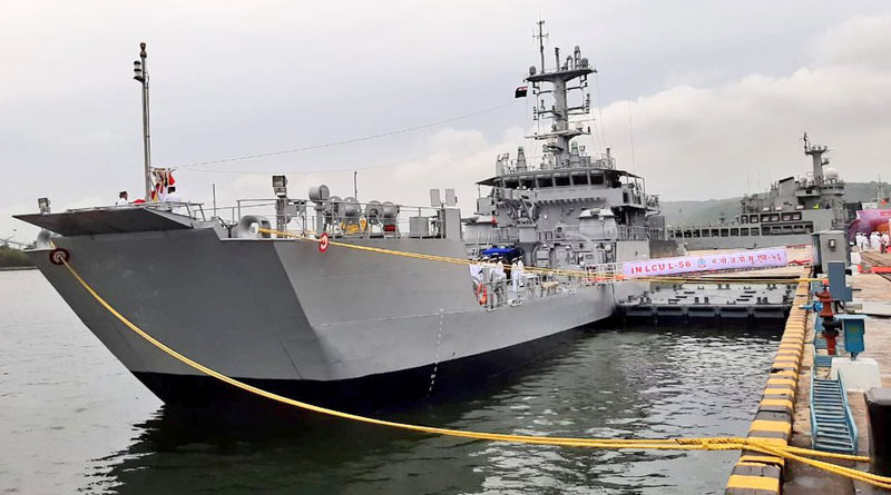GRSE-built 100th Warship IN LCU L-56 Commissioned