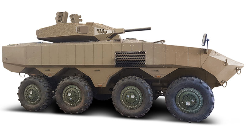 IDF Selects Elbit Systems' Iron Fist Light Decoupled APS for the Eitan AFV