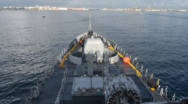 INS Tarkash Makes Port Call at Dakar, Senegal