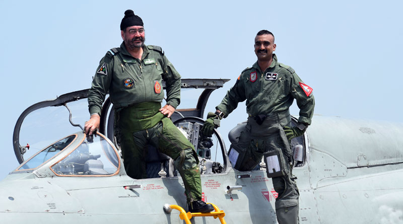 IAF Chief Flies MiG-21 Along With Wing Commander Abhinandan