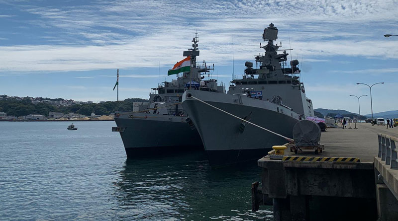 Indian Navy Ships Arrive in Japan Ahead of Exercise Malabar
