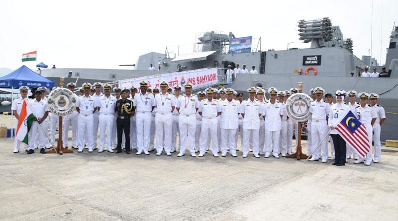 Indian Naval Ships Make Port Call at Kota Kinabalu, Malaysia