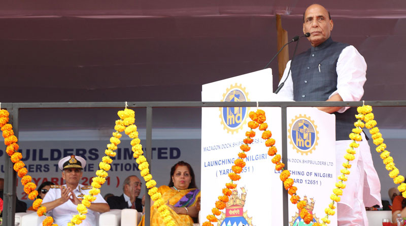 Rajnath Inaugurates India's First Aircraft Carrier Dry Dock