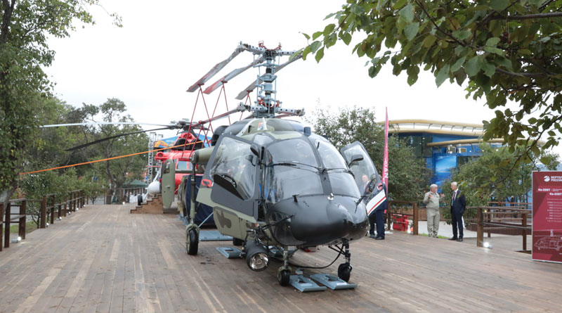 Mi-171A2 and Ka-226T, Intended for India, Presented at EEF