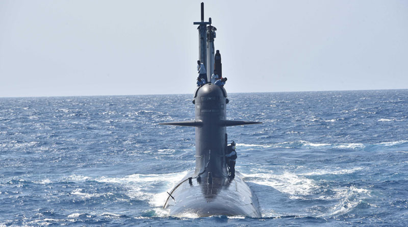 Submarine Khanderi During Various Phases of Sea Trials