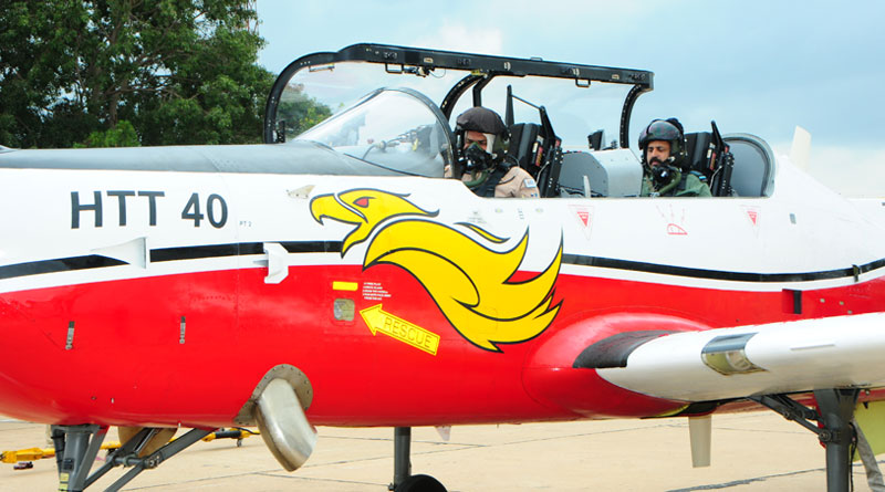 Chief of Air Staff Flies HAL's HTT 40