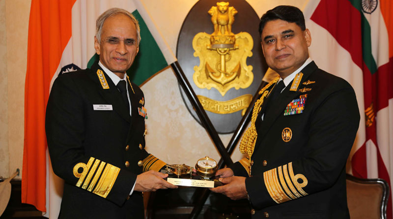 Bangladesh Navy Chief Adm. Aurangzeb Chowdhury on India Visit