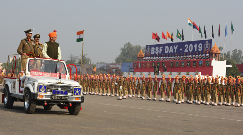 BSF Raising Day: Minister of State Takes Salute