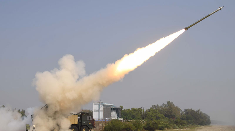 Successful Flight Test of Two Pinaka Missiles in Salvo Mode