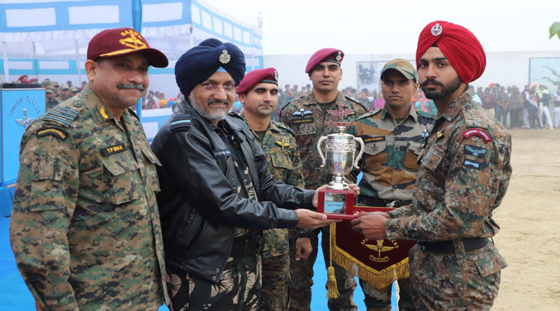 The best all-rounder trophy was presented to LAC Yogesh Singh