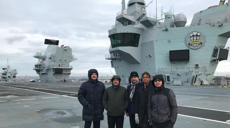 Indian Parliamentarians Tour Uk's Largest Ever Aircraft Carrier