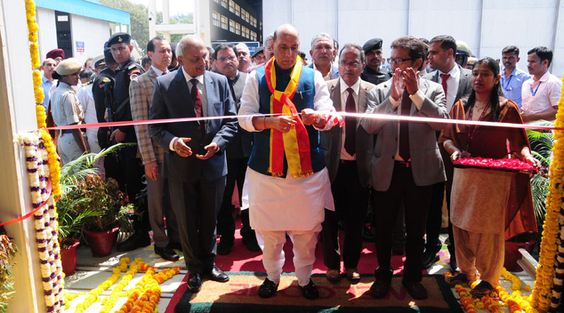 Defence Minister Rajnath Singh Inaugurates HAL's LCH Production Hangar in Bangalore