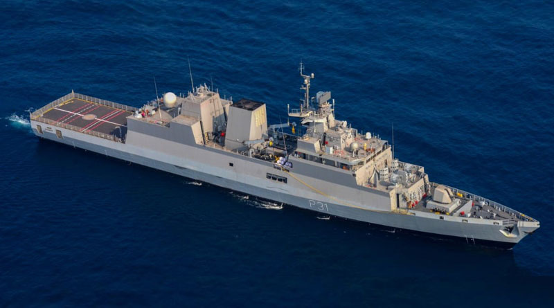 GRSE Delivers INS Kavaratti to Indian Navy