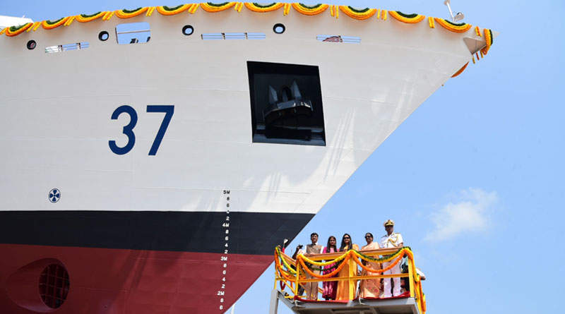 """Offshore Patrol Vessel-6 """"VAJRA"""" Launched at Chennai"""
