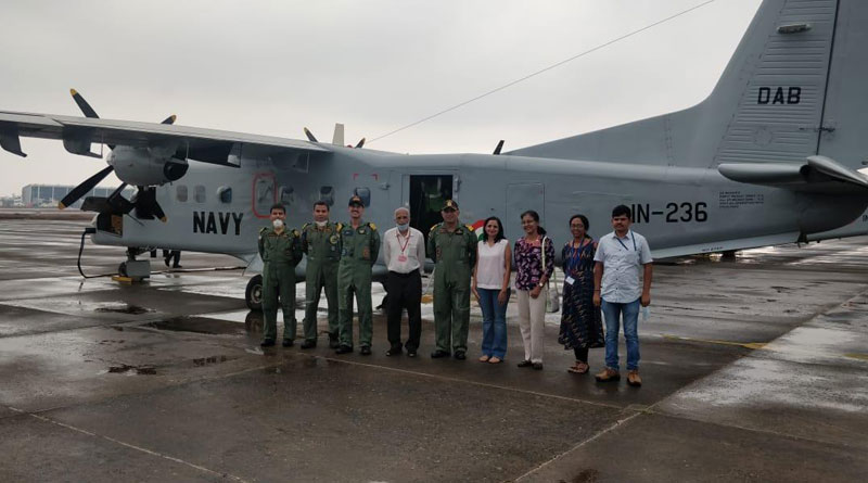 A Medical Team from Goa flies to Pune in a Naval Aircraft