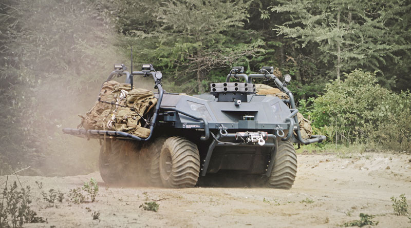 Great Britain Procures Rheinmetall's UGV Mission Master