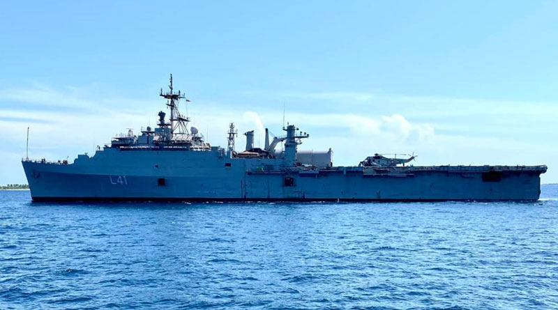 INS Jalashwa Reaches Male, to Start for Kochi on May 8