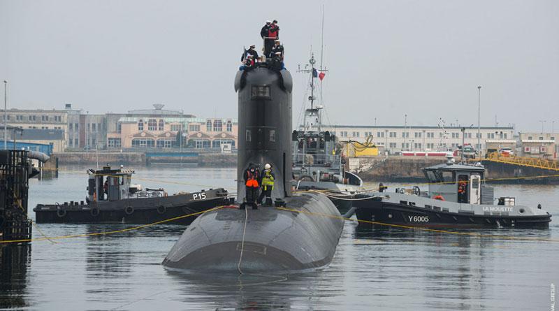 The SSN Suffren Submarine Put for Trials