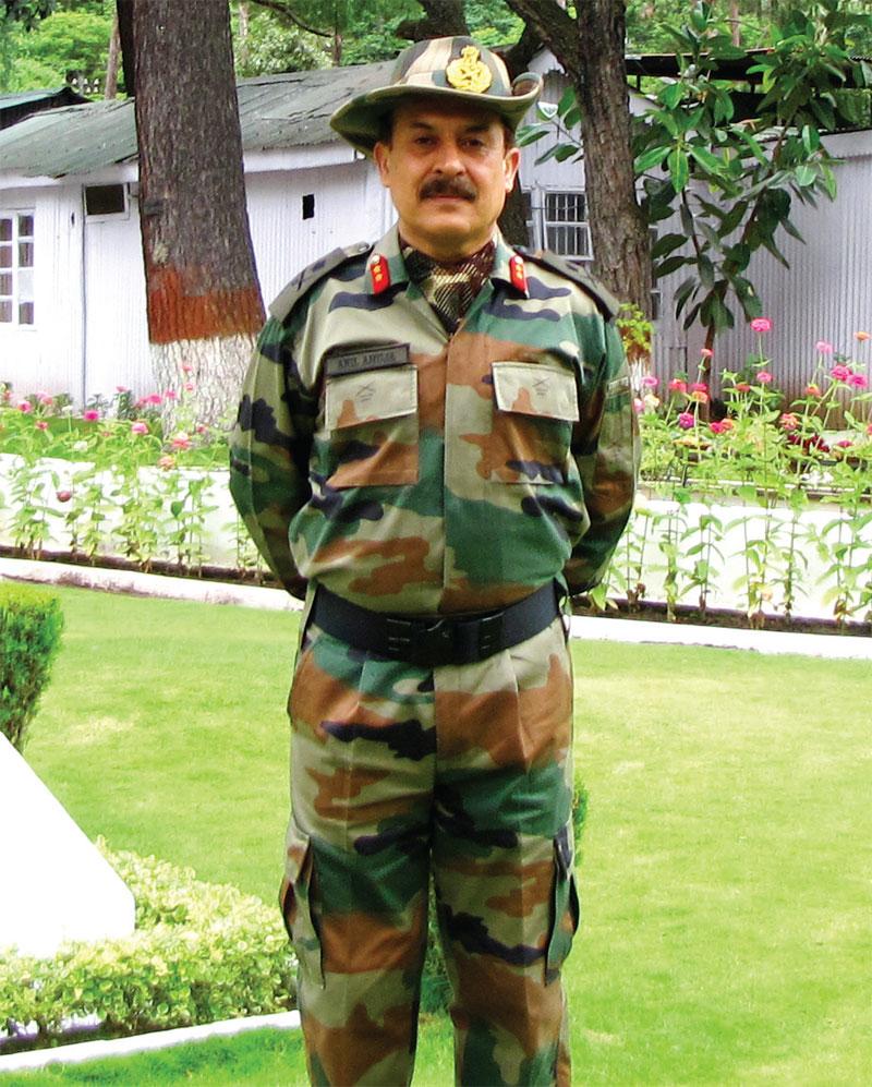 General Officer Commanding, 5 Mountain Division, Major General Anil K. Ahuja, VSM