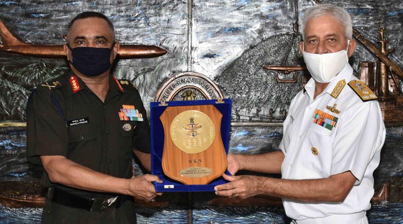 Lt Gen. Manoj Pande Visits Eastern Naval Command