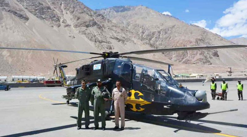 Two LCH Produced by the HAL Deployed in Leh Sector