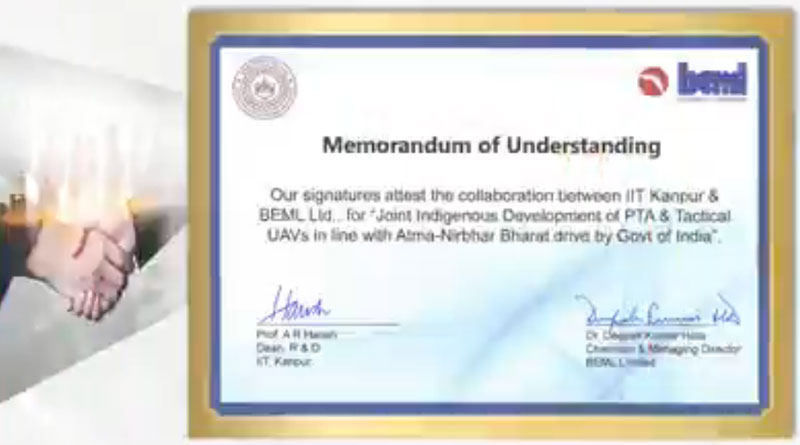 BEML Signs New MoUs in the field of UAV, AI & IOT