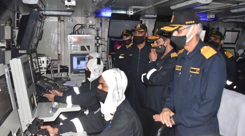 CNS Admiral Karambir Singh Reviewed Operational Readiness at Sea