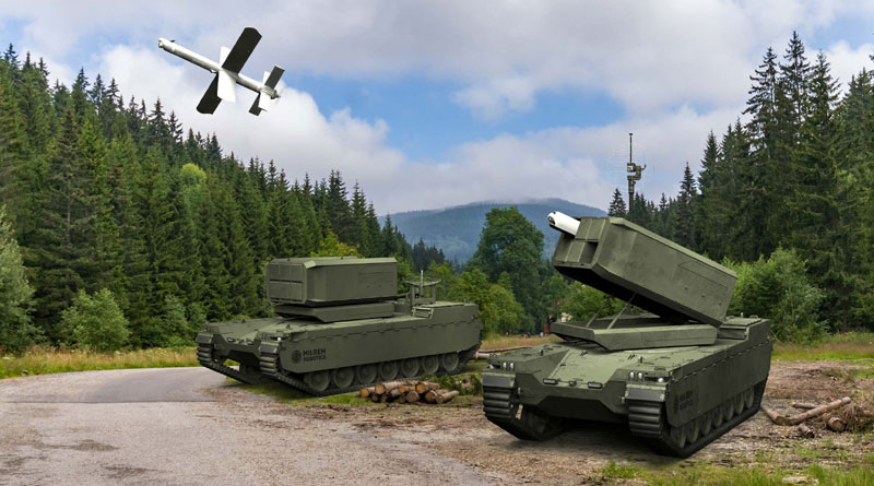 Milrem Uvision Multi Canister Launcher