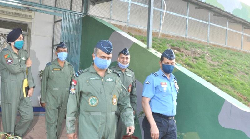 Air Marshal V R Chaudhari Visits Frontline Airbase in Jammu