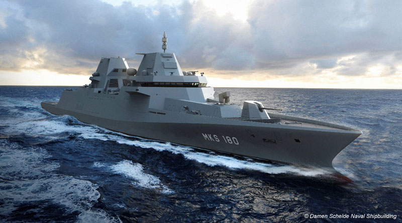 Damen and Thales to Build MKS 180-Class Frigates for German Navy