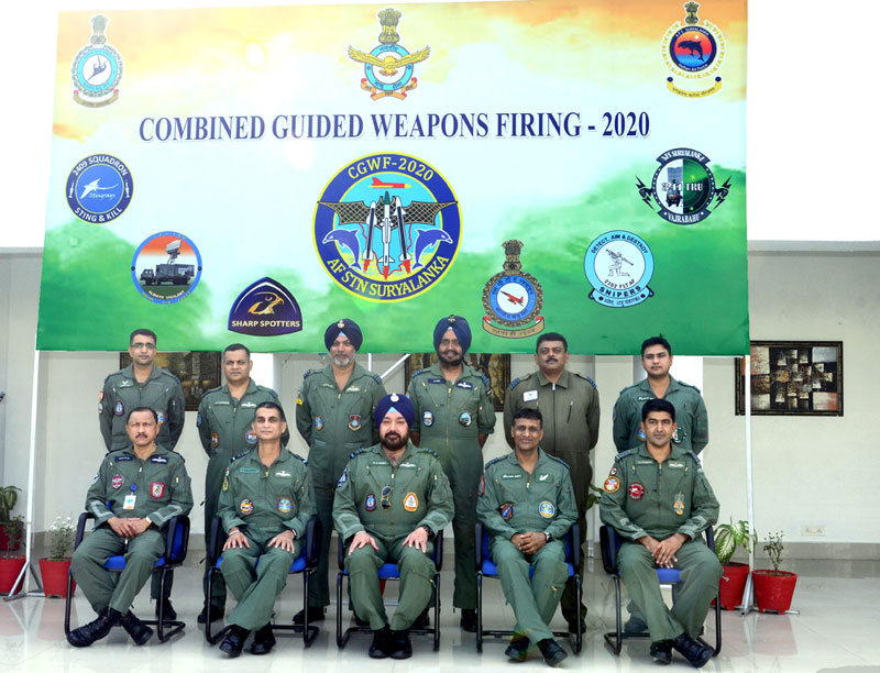 VCAS HS Arora Witnesses Combined Guided Weapons Firing at AFS Suryalanka