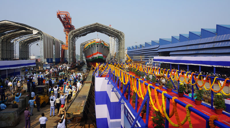 'Himgiri' Ship Being Built by GRSE Launched