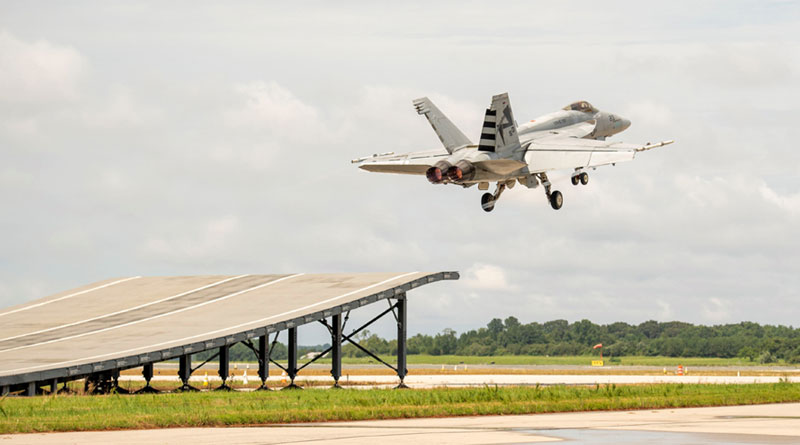 Boeing's F/A-18 Super Hornet Performs Ski Jump Launch Successfully