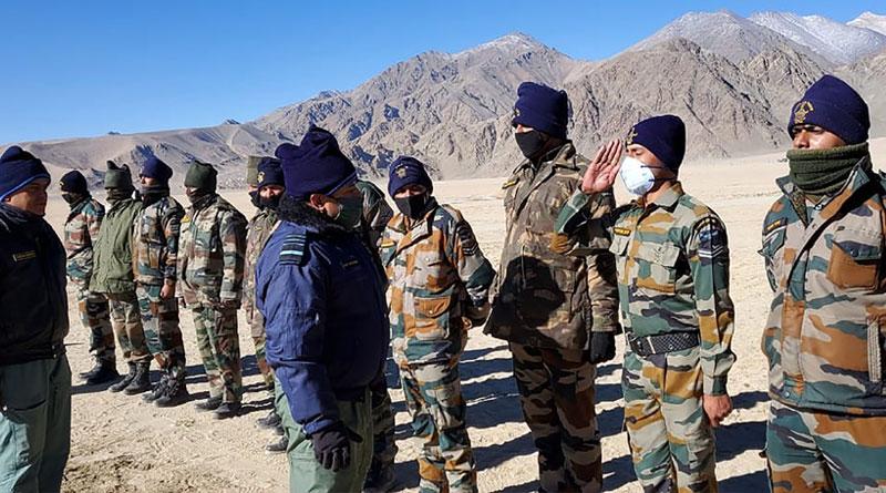 CAS Visits Forward Locations in Ladakh
