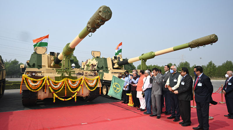 K9 Vajra-T Gun flagged off at Armoured Systems Complex