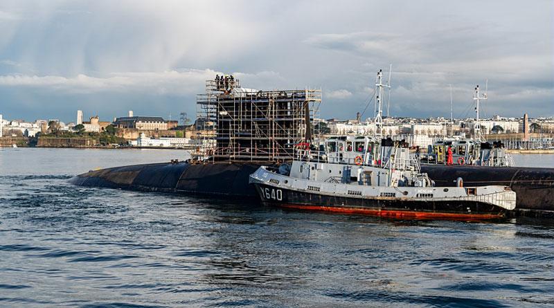 SSBN Le Terrible Arrives at Brest Naval Base for Major Refit