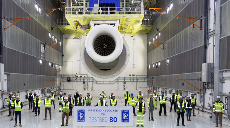 Rolls-Royce Runs First Engine on World's 'Largest And Smartest' Aerospace Testbed