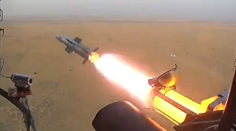Army and Air Force Carry Out Joint User Trials of Helina Missile