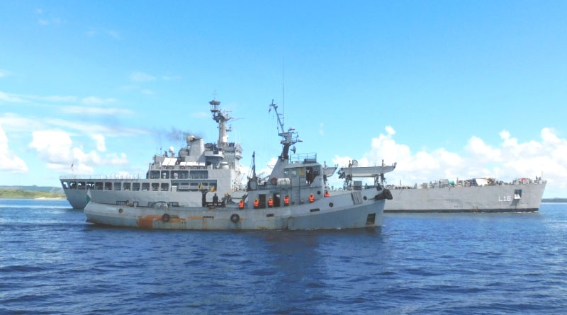 INS Shardul Visits Madagascar as part of the 1TS
